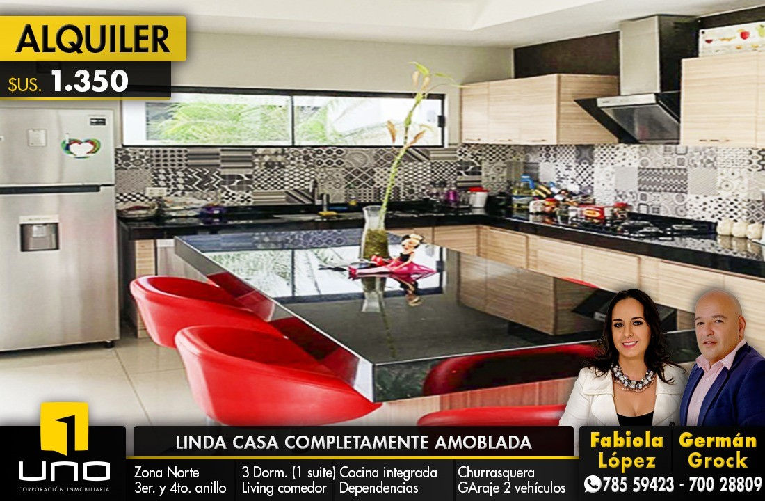 Casa en Alquiler ZONA NORTE, ENTRE 3ER Y 4TO ANILLO Foto 12