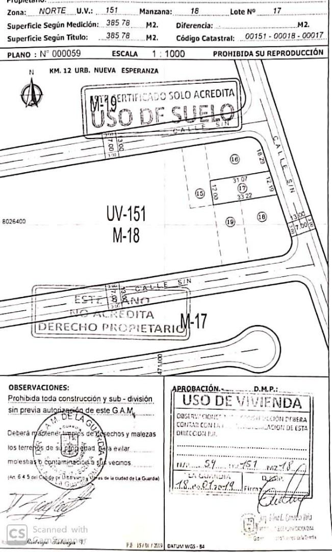 Terreno en Venta TERRENO EN URB. NUEVA ESPERANZA  Foto 4